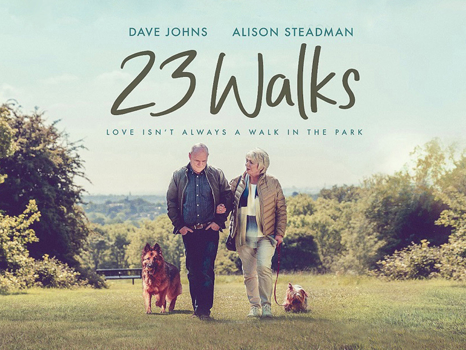 A chance encounter leads to a budding romance between a pair of dog walkers...